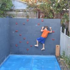 Wall over pool